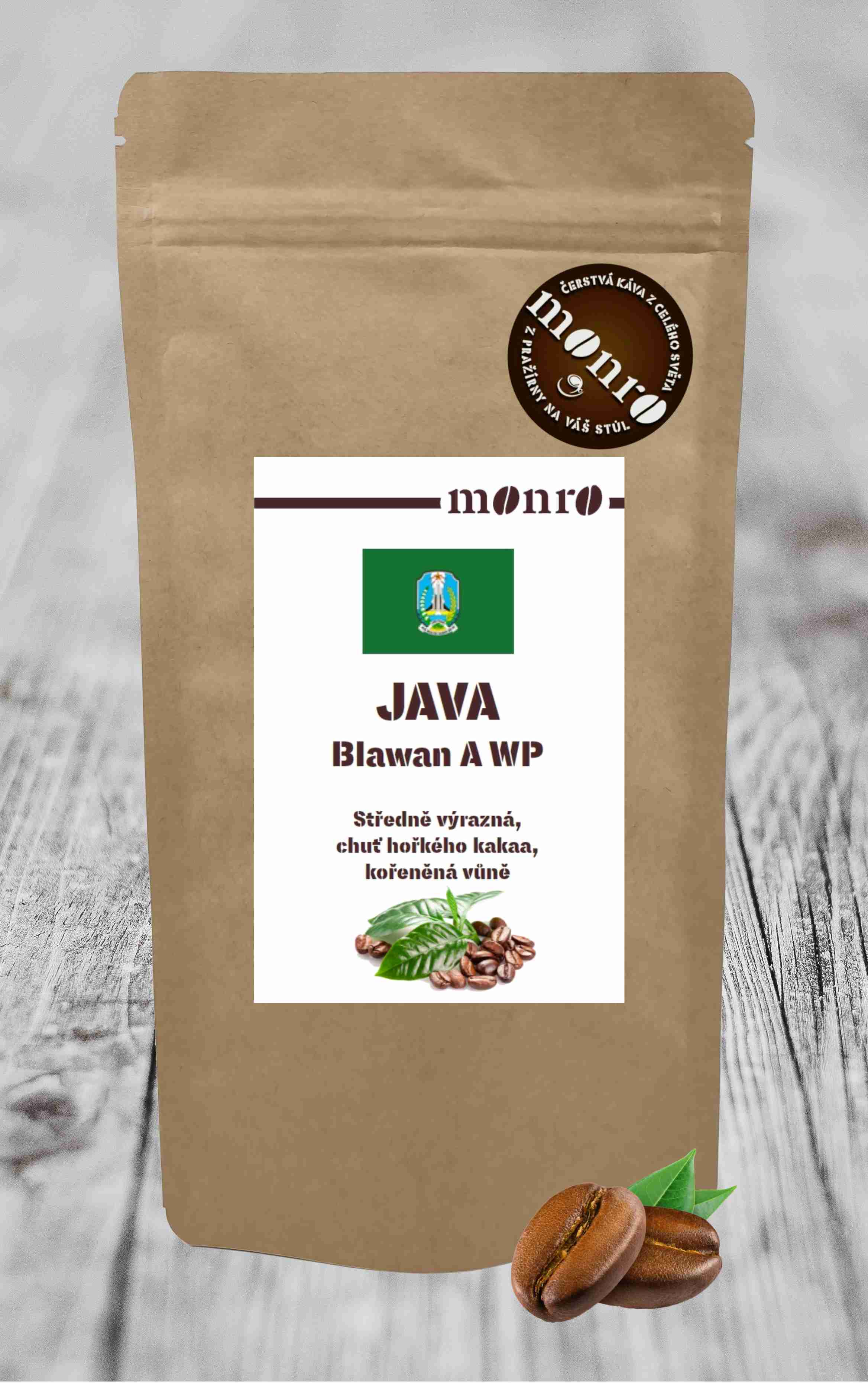 JAVA BLAWAN ESTATE A WP KÁVA ARABICA