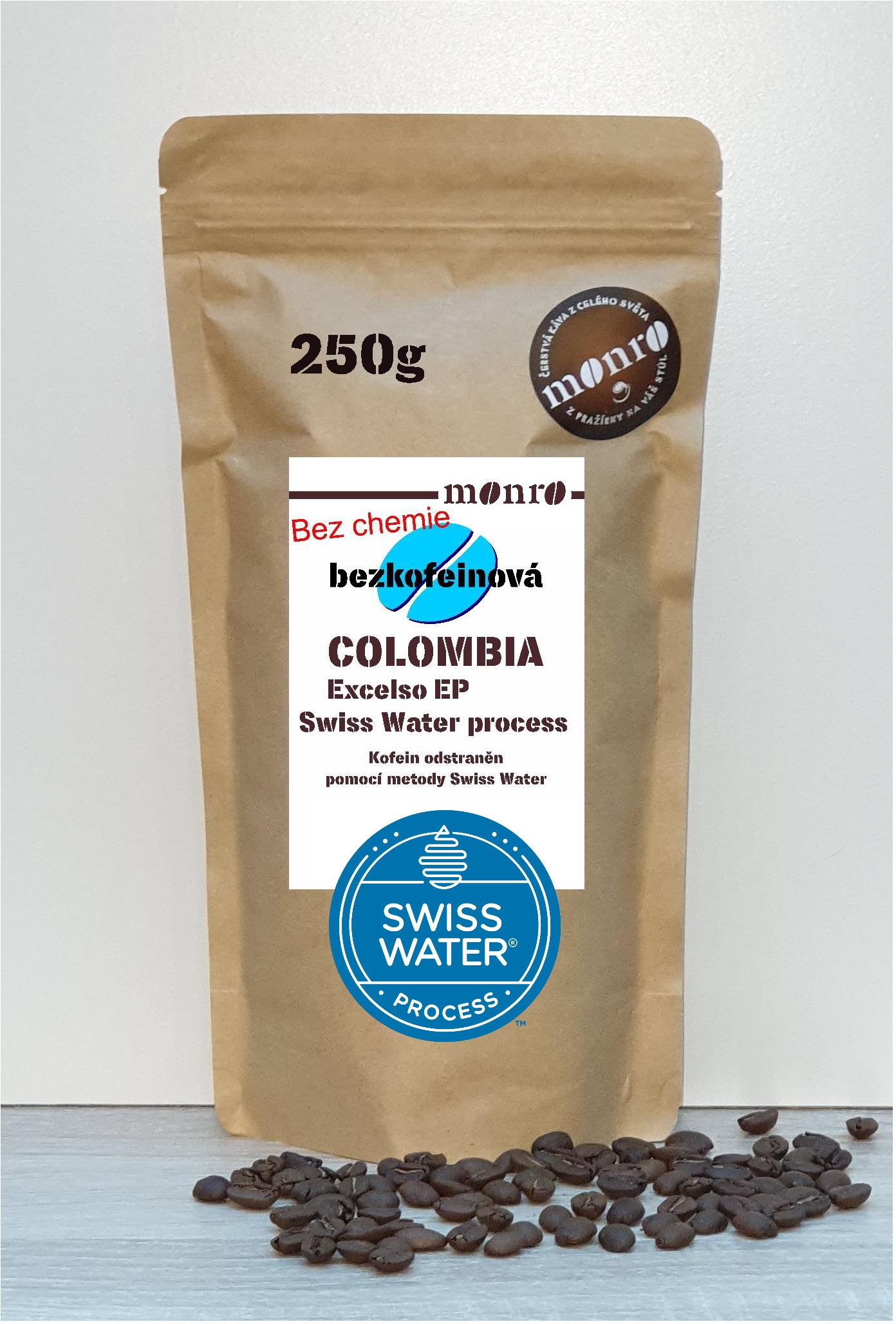 COLOMBIA EP EXCELSO DECAF SWISS WATER PROCESSED KÁVA ARABICA